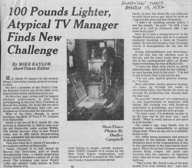 1982 Newspaper story on MDS IV